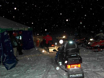 15m One-Seater Night Snowmobile Route, Cerler