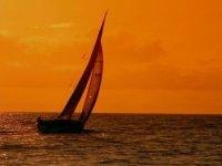 navegación en barco de vela