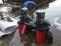 Botas en el agua