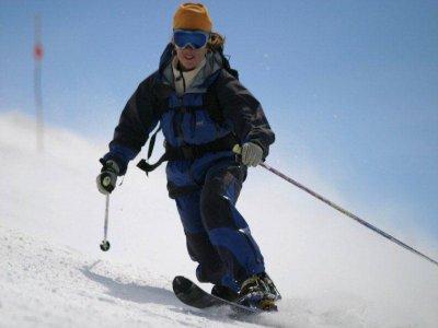 内华达山脉5天的滑雪课程