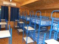 Habitaciones con literas azules