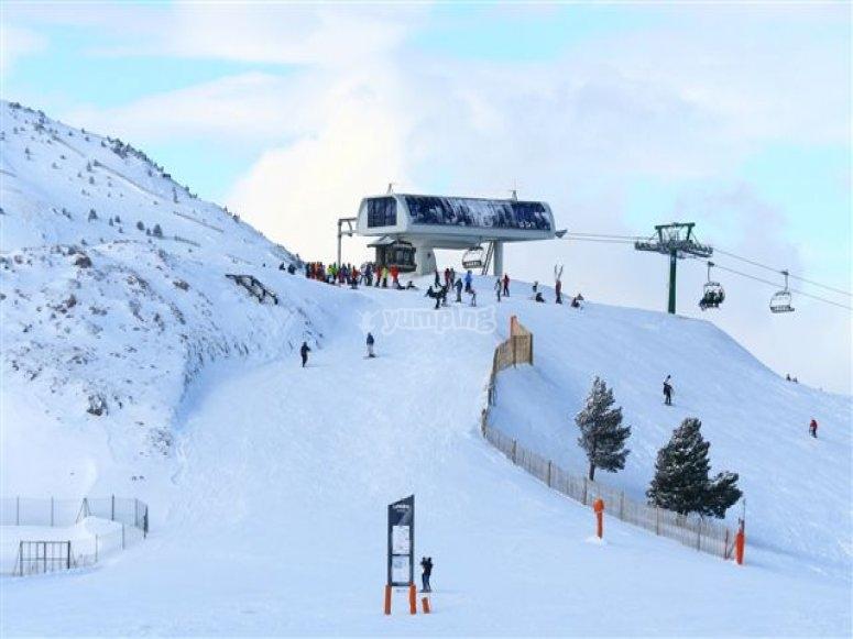 practica snow en la Molina