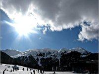 当然在1999年6月和2月的雪上滑雪 - 在Molina的练习雪上滑行