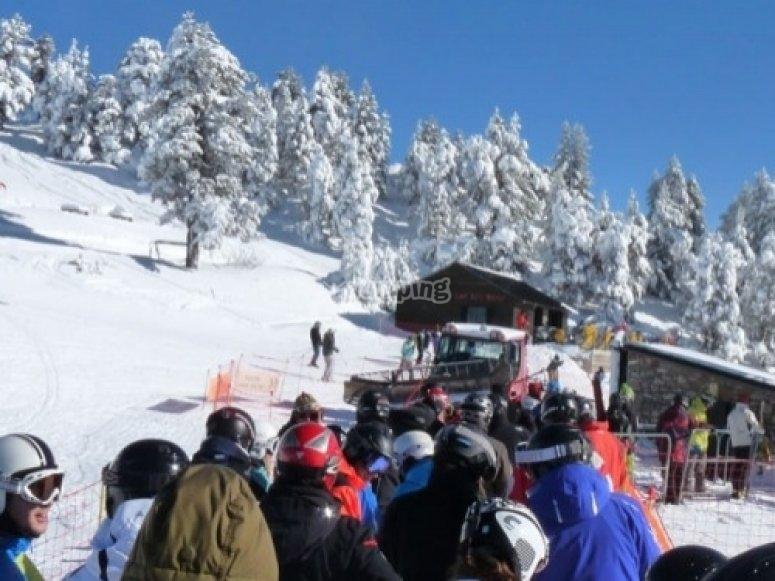 disfrutando del snow en Masella