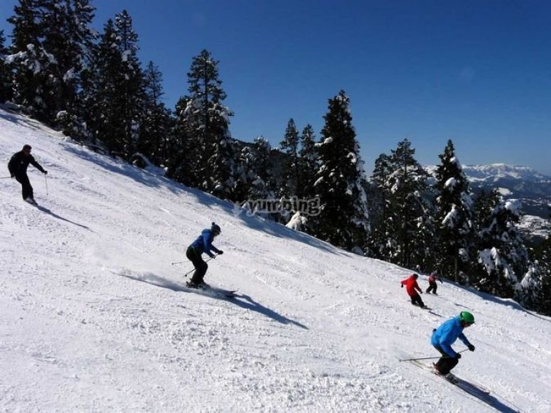 Skiing course in Masella