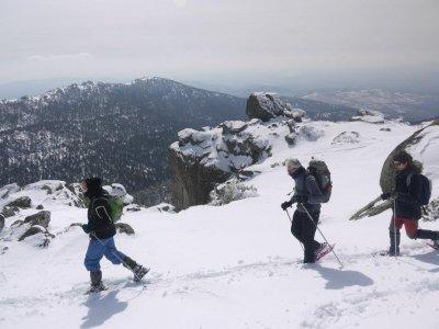 Ruta raquetas de nieve sierra Madrid, precio niños