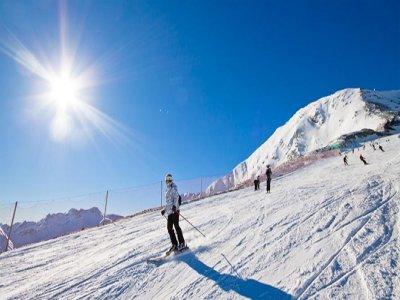 下午6点在La Molina的6个星期日滑雪场。
