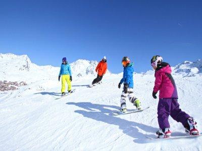 下午6点在Masella的6个星期日的滑雪板课程。