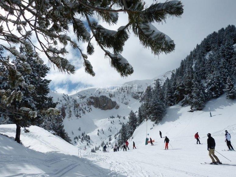 masella滑雪站滑雪