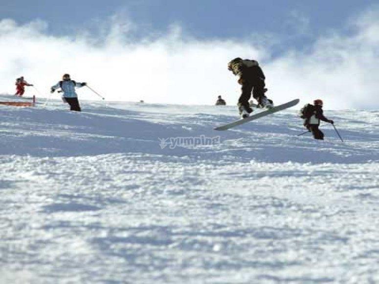 在masella的滑雪板