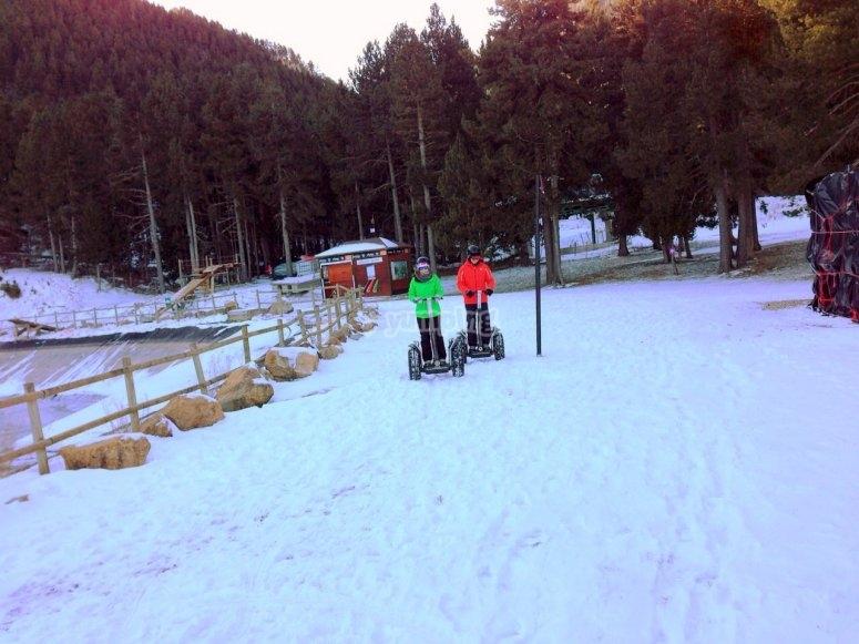 Segway X2 con nieve