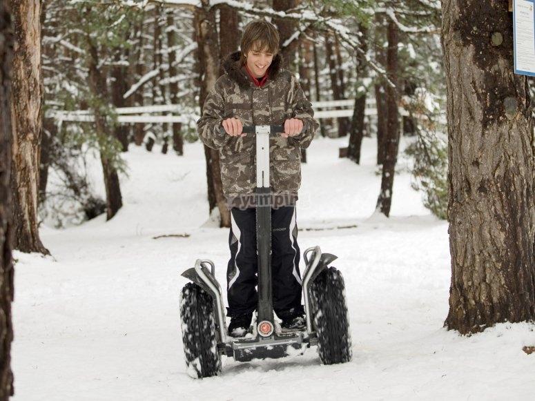 Segway sobre la nieve