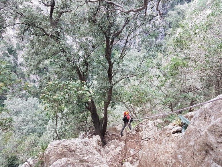 在马略卡岛的峡谷