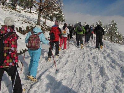 Excursión de raquetas de nieve en Pirineo Aragonés