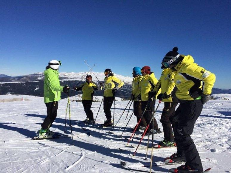 Clase de esqui en La Masella