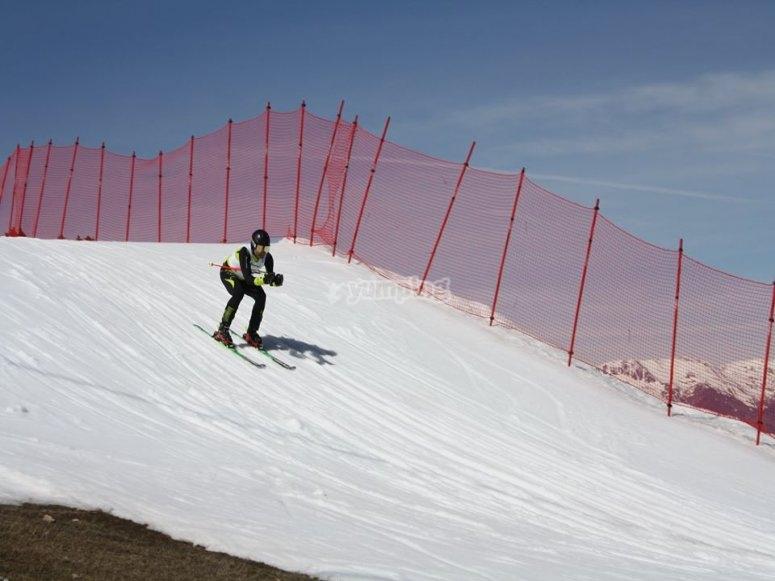 Sesion de esqui en Masella