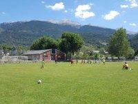 Entrenando en el campus de Huesca