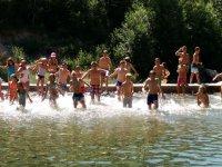 Refrescandose en el agua