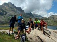 Visitando el lago en Huesca