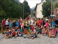 Visitando el pueblo en Huesca