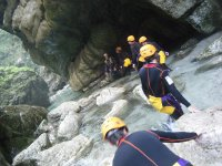 Practice canyoning
