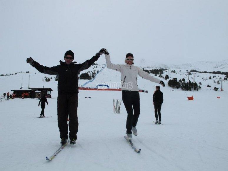 尝试越野滑雪