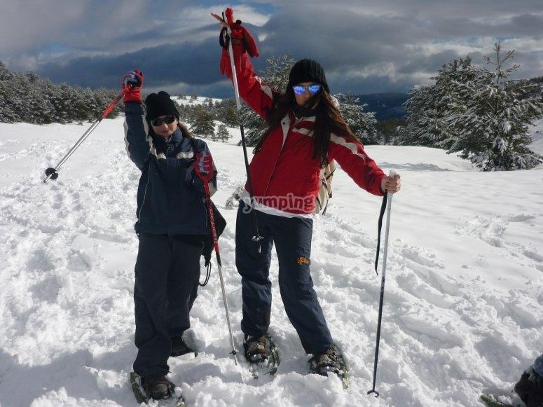 Snowshoes in Penalara