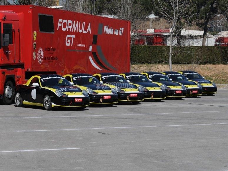 La nostra flotta di Porsche Boxster Cup