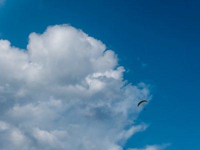 Acrobatico飞行在串联滑翔伞Berga 20分钟