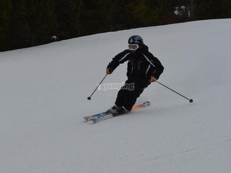 Aprendiendo a esquiar