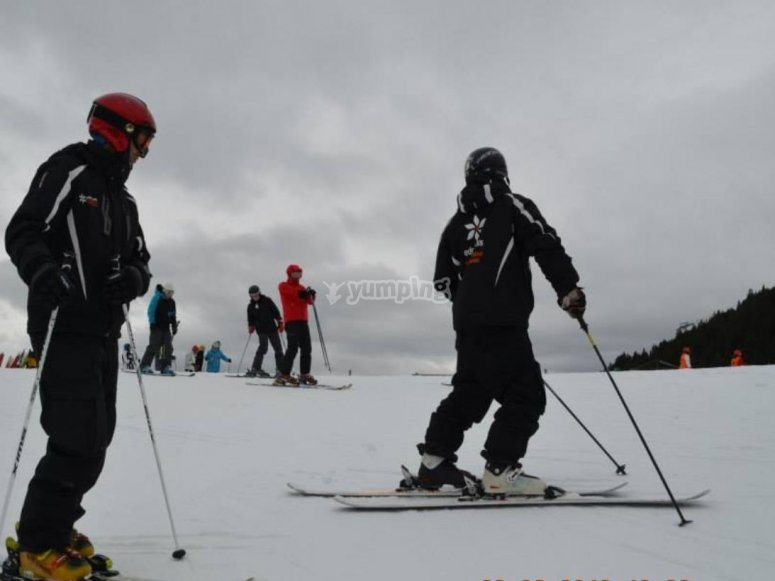 Con el monitor de esquí