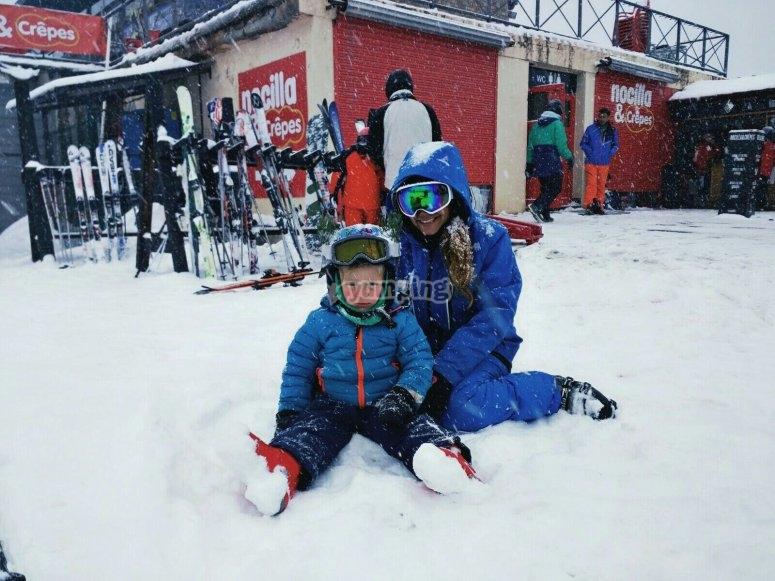 Clases de esquí para los mas peques