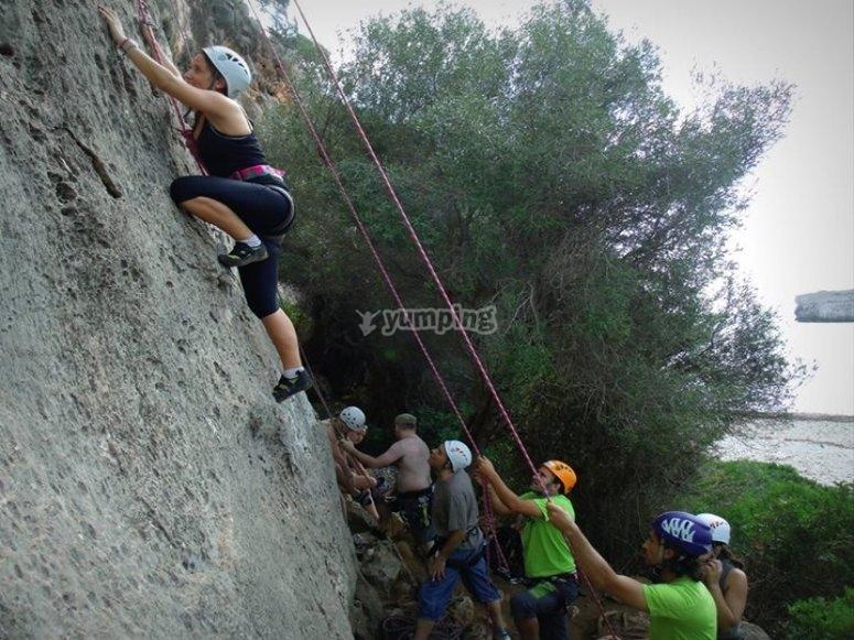 Climbing lesson
