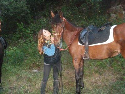 Paseo a caballo en Santa Susanna y almuerzo,1h30m