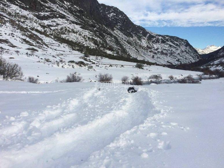 sentiero per racchette da neve