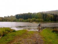 自行车在水中