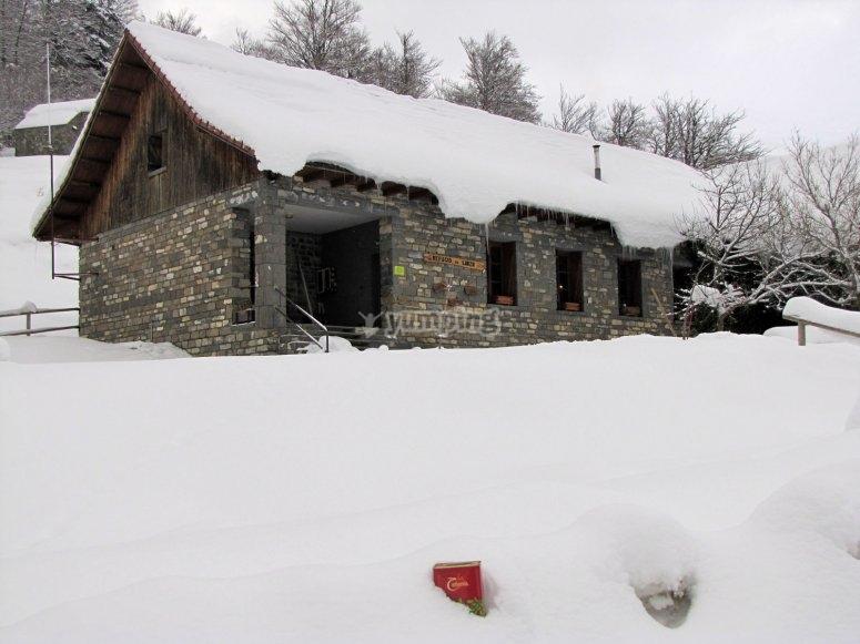 El refugio nevado
