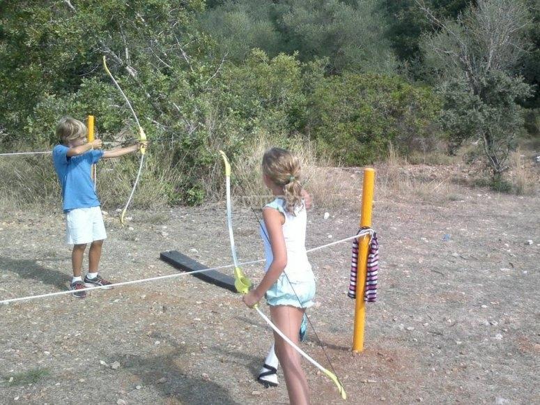 Archery in the farm