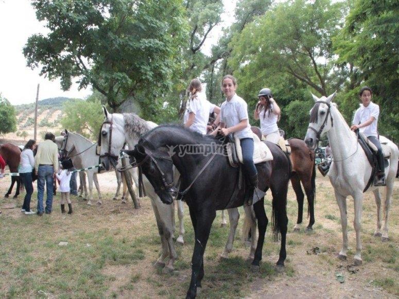 Paseo a caballo, 90 minutos