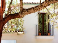 Balcon con macetas