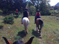 Dirigiendonos al camino a caballo