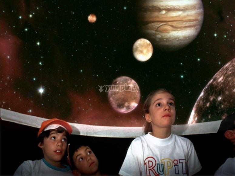 En el planetario