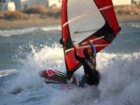 Deslizandose en las olas