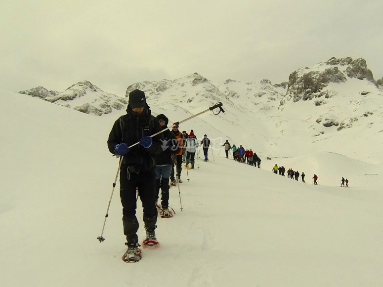 Raquetas de nieve Picos de Europa