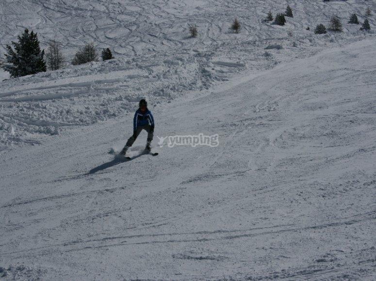 Esquiando en Madrid
