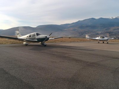 Diamond DA20 Light Aircraft Flight Costa Dorada,1h