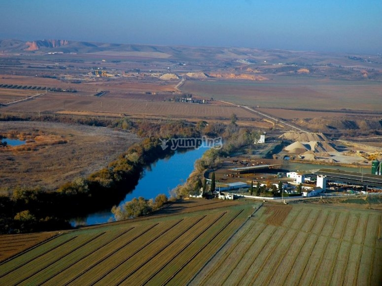 Aerial sights of the Toledo´s province