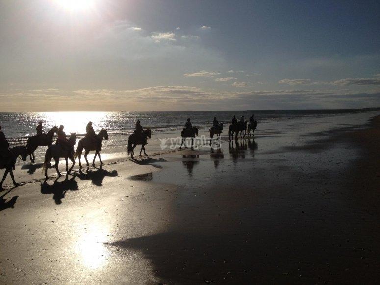 Ruta a caballo y ruta en 4x4