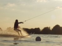 wakeboarding in the sea