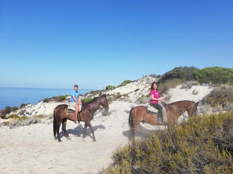 Paseo a caballo dunas de Doñana